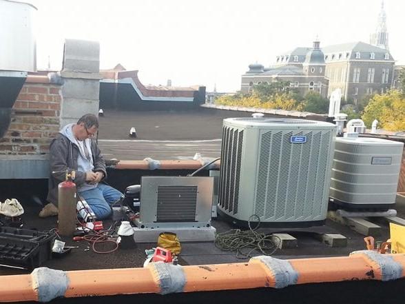Refrigeration Condenser Installation